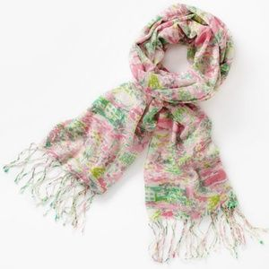 Lilly Pulitzer US Open Toile Murfee Scarf NWT